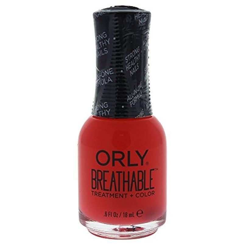 マラウイ慣れる優雅なOrly Breathable Treatment + Color Nail Lacquer - Sweet Serenity - 0.6oz / 18ml