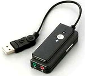 iBUFFALO Arvel USBオーディオ変換ケーブル ボリューム付 0.2M HAMU02BK
