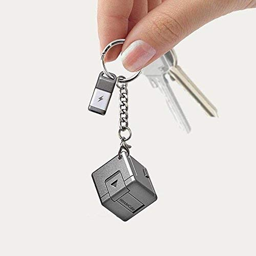 WonderCube - 携帯型1キュービックインチ多機能アクセサリ、充電器、メモリ、キックスタンド、乾電池の緊急充電機能、 LEDライト、マイクロSDカードリーダー、1インチパック