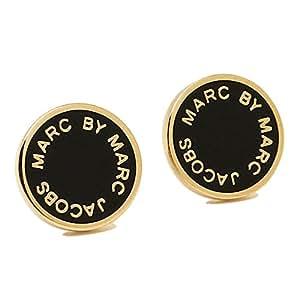 (マークバイマークジェイコブス) MARC BY MARC JACOBS マークバイマークジェイコブス ピアス MARC BY MARC JACOBS M3PE525 001 ENAMEL LOGO DISC BLACK/ORO ブラック/ゴールド [並行輸入品]