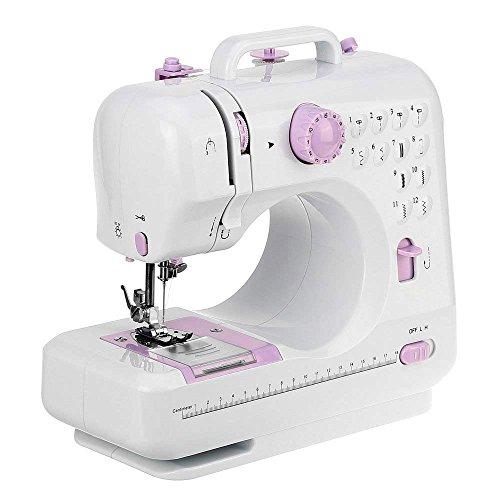Qkifly 電動 ミシン 家庭用 コンパクト小型 ミシン 手作り 縫い物 縫製 簡単操作 12通り縫い方 ライト付き初心者 家庭用ミシン ソーイングミニ フットコントローラー付き (Big)