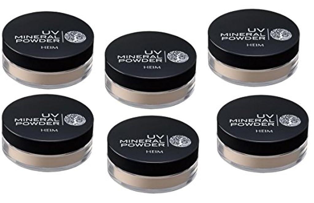 お香下位乳剤ハイム UVミネラルパウダー SPF50+ PA++++ 6g X6個セット