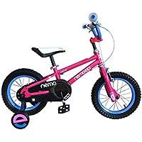 ROCKBROS(ロックブロス) 子供用 自転車 かわいい 16インチ男の子にも女の子にも! 安心のキャリパーブレーキ、バンドブレーキ仕様 補助輪付き 児童用 お子様のこだわりにもぴったりフィットするカラー4色サイズ4種 合計16バリエーション16インチピンク NEMO16-D ピンク 16インチ
