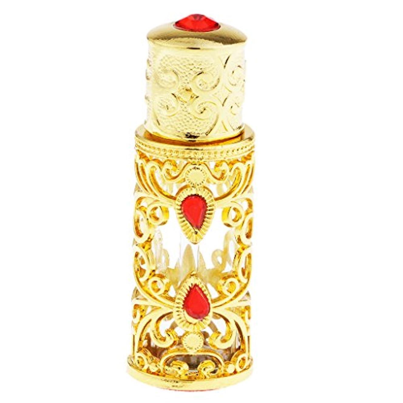 黒くする着替える魔法3ml 中東スタイル 香水ボトル ゴールド エッセンシャルオイルボトル 精油ボトル アロマ保存容器 保管に便利