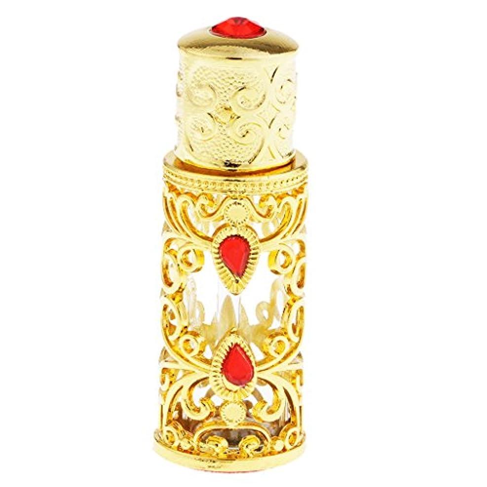 クライストチャーチ質素な区別3ml 中東スタイル 香水ボトル ゴールド エッセンシャルオイルボトル 精油ボトル アロマ保存容器 保管に便利