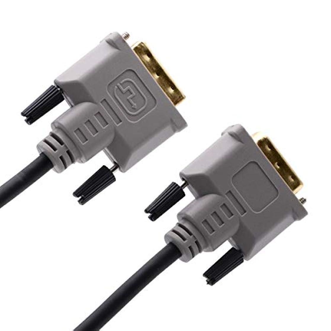 ジム効率練るCablesson DVI to DVIケーブル – ブロードバンド、DVI - Dオスto DVI - Dオスwith金メッキコネクタ。1つのリンク19ピン、テレビ、モニター、プロジェクター、HDTV最大解像度1920 x 1080 – ブラック、10 M。