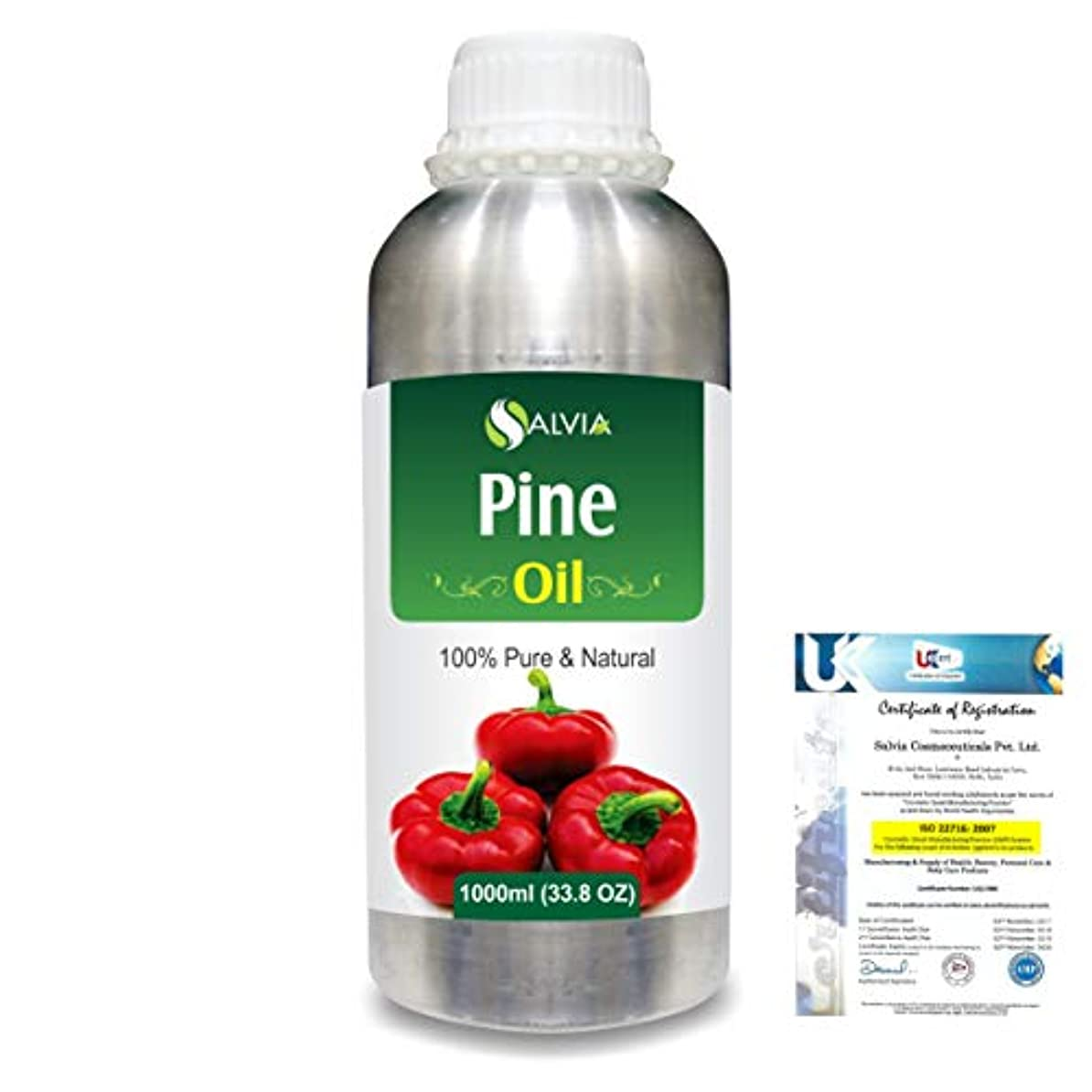 キュービックディプロマ上陸Pine (Pinus Sylvestris) 100% Natural Pure Essential Oil 1000ml/33.8fl.oz.