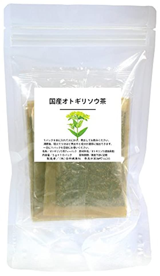 視聴者入力マニフェスト自然健康社 国産オトギリソウ茶 5g×10パック 煮出し用ティーバッグ