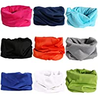 Large Capacity Outdoor Equipment Multifunctional Elastic Outdoor Bandana UV Resistance (Color : Solid Style 2 (9PCS), Size : One Size)