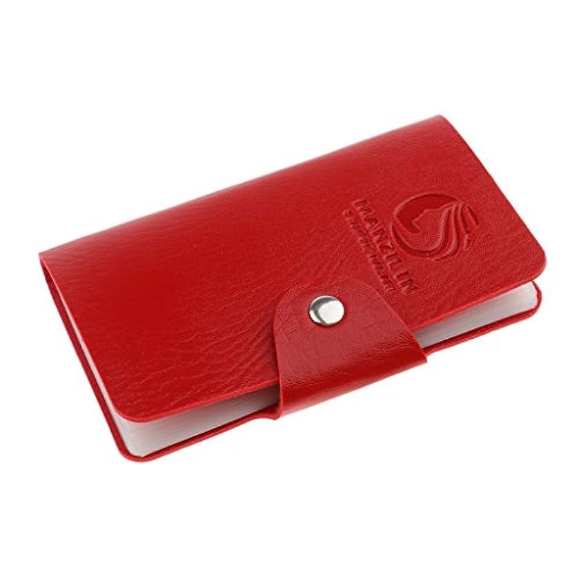 対抗カップマージオーガナイザーケース バッグ プレートスタンパーバッグ 24スロット ネイルアート ホルダー 収納 5色選べ - 赤, 説明したように