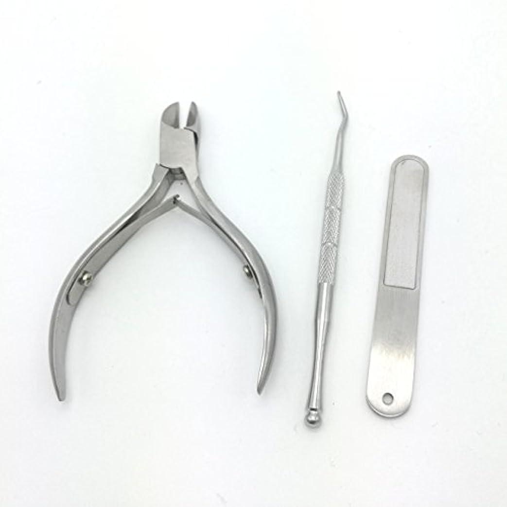 維持するハンカチ謝る爪切り 改良版ニッパー爪切り ステンレス製 ニッパー式爪切り ネイルニッパー 爪やすり、ゾンデ付き お年寄りプレゼント 贈答ケース付属