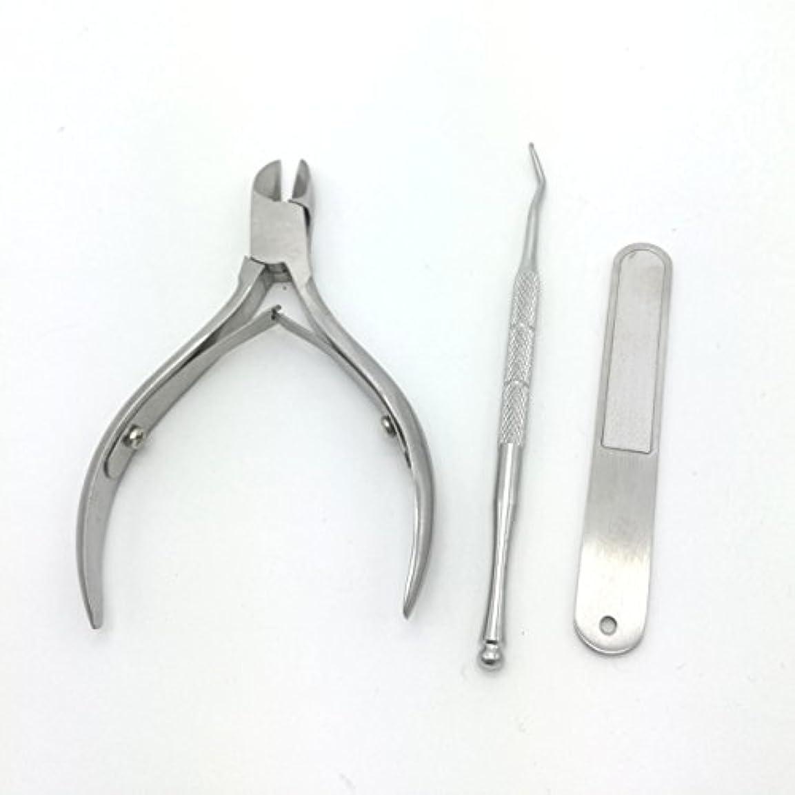 ジュニアもう一度コンテンポラリー爪切り 改良版ニッパー爪切り ステンレス製 ニッパー式爪切り ネイルニッパー 爪やすり、ゾンデ付き お年寄りプレゼント 贈答ケース付属