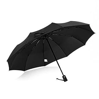 晴雨兼用 折りたたみ傘 片手で 自動開閉 軽くて丈夫な 10本骨 プロテクションUV加工 メンズ レディース 収納袋付