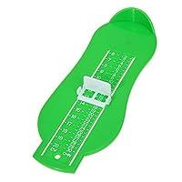 Xigeapg 子供の幼児の足の測定ゲージの靴サイズ測定ルーラツール幼児の靴ベビー子供の靴測定用具足の測量緑