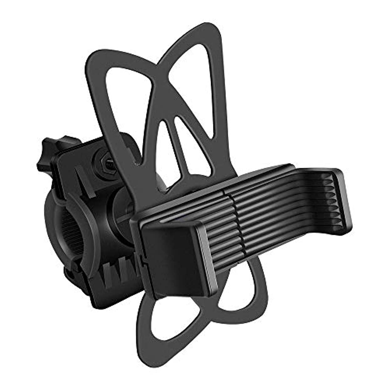 音雪のむしろ自転車 スマホホルダー オートバイ バイク スマートフォン振れ止め GPSナビ 携帯 固定用 スタンド iphone7 /8 /X/XR/XS/XS Max、Galaxys、xperiaなど多機種対応 角度調節可能 360度回転 脱落防止 脱着簡単 二重強力保護
