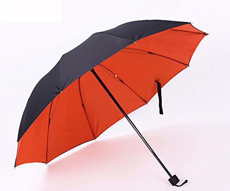 Youchan(ヨウチャン) 晴雨兼用 かさ 無地 バイカラー遮熱効果 UVカット 紫外線 日傘 携帯 かさ 雨具 折りたたみレディース メンズ