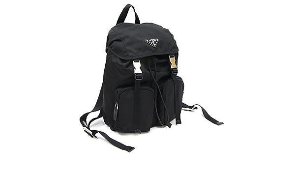 c1614faf9245 Amazon.co.jp: PRADA(プラダ) リュックサック BZ0023 ブラック ナイロン 中古 バックパック ミニリュック レディース 黒  PRADA [並行輸入品]: 服&ファッション小物