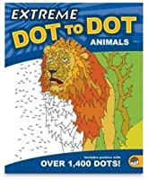 Animals Extreme Dot To Dot Drawing Extreme Coloring Book by MindWare