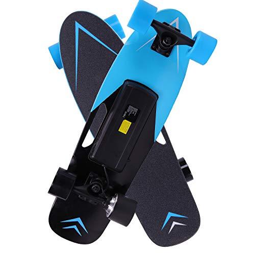 電動スケートボード スケートボード 電動キックボード キックボード スケボー リモコン付き 最大時速15km/h (青)