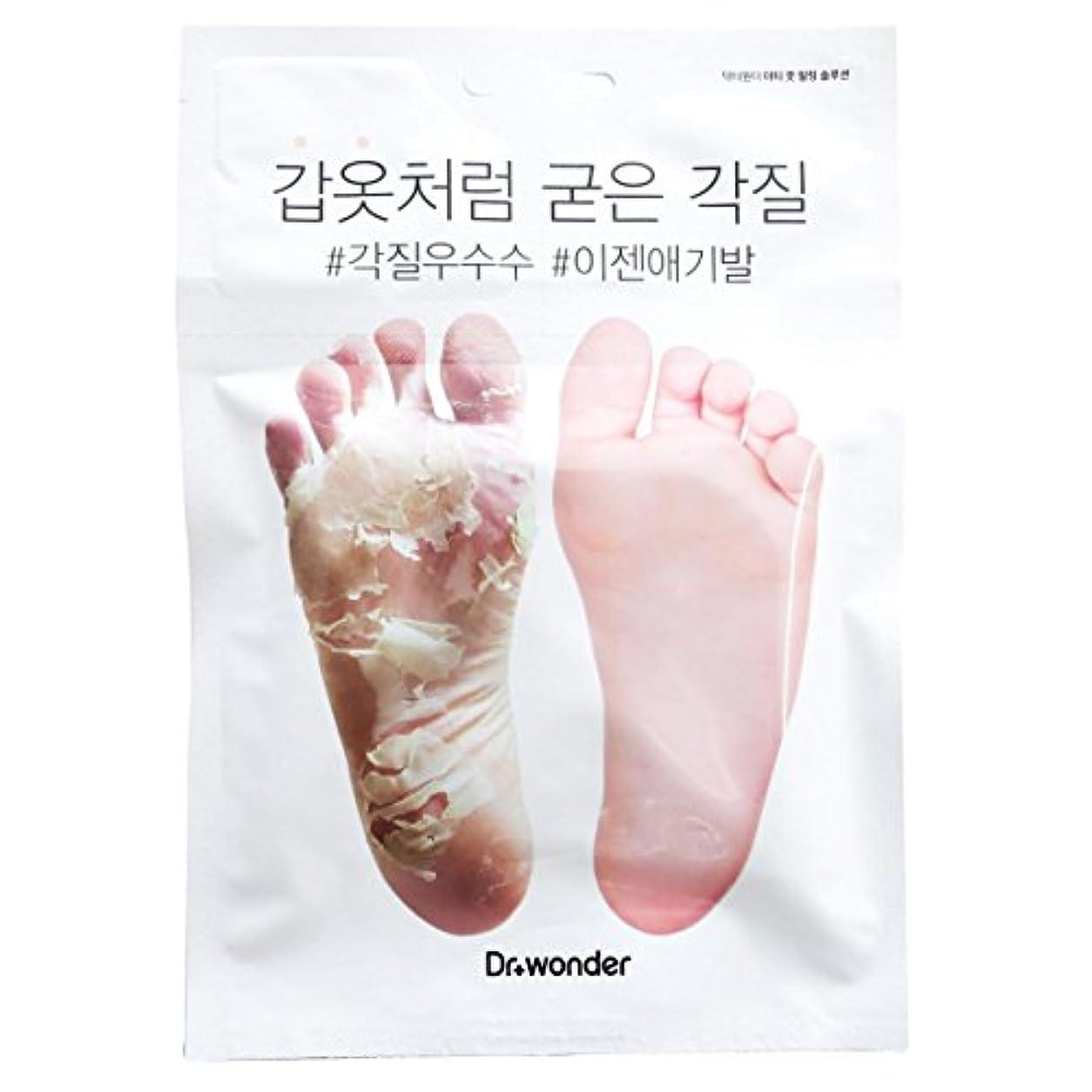 アラーム大学生胸[ドクターワンダー/ Dr+ wonder] Good Bye, Dirty Foot! Doctor Wonder Crocodile Foot Mask Pack / ドクターワンダーワニバルペク/鎧のような硬い角質...