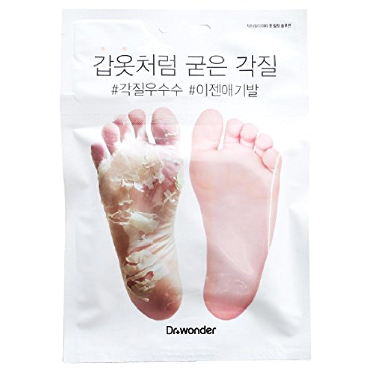 千商人適用する[ドクターワンダー/ Dr+ wonder] Good Bye, Dirty Foot! Doctor Wonder Crocodile Foot Mask Pack / ドクターワンダーワニバルペク/鎧のような硬い角質...