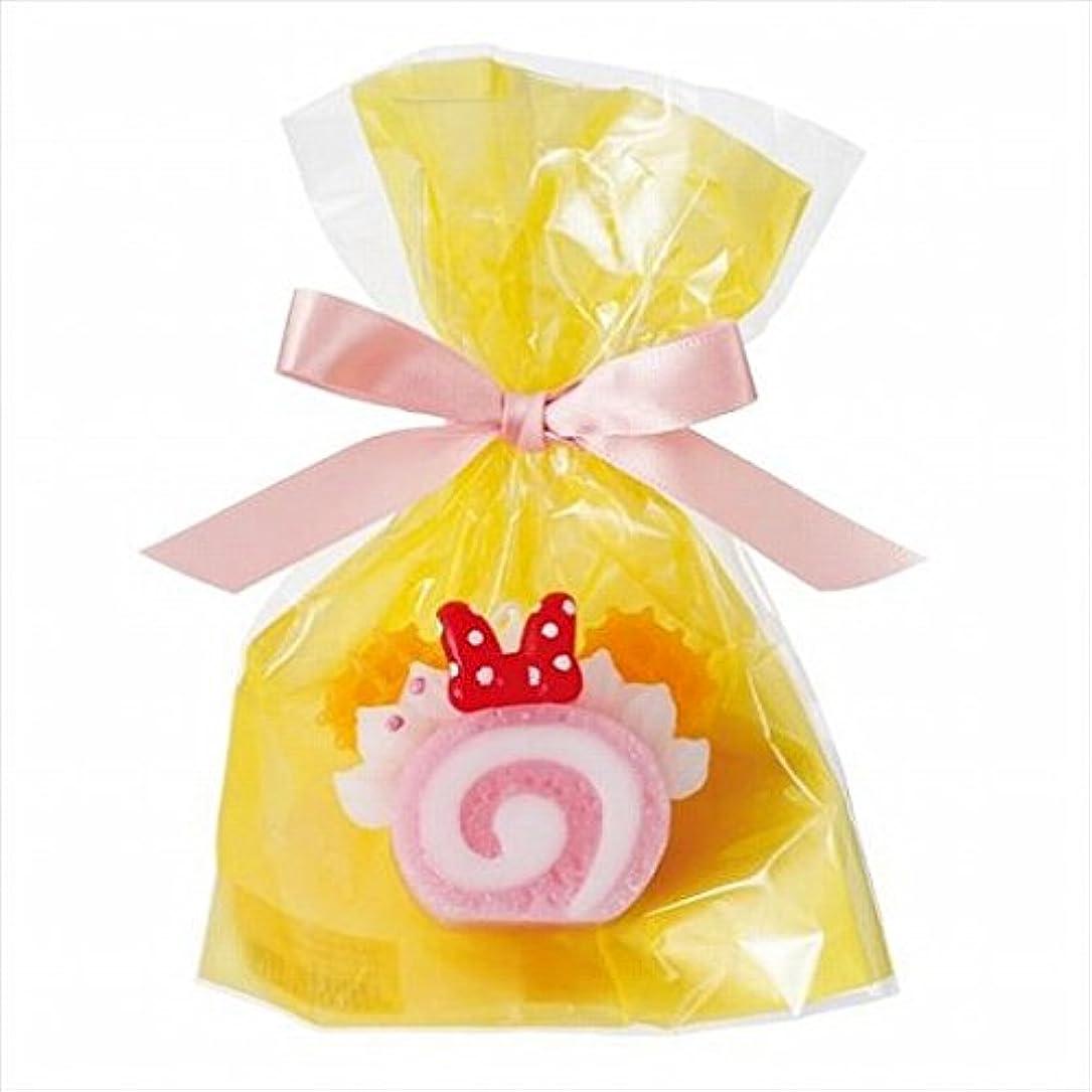 裏切り者周波数破壊的sweets candle(スイーツキャンドル) ディズニースイーツキャンドル 「 ピンクロールケーキ 」 キャンドル 55x30x44mm (A4350030)