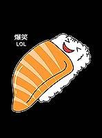 【すし・寿司・サーモン】 黒光沢紙(フレーム無し)A4サイズ