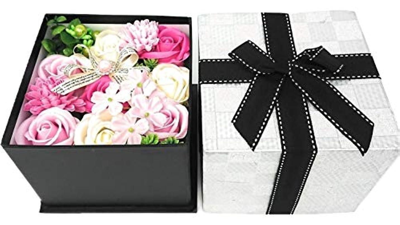 土曜日レンジ振るクルール バスフレグランス バスフラワー BOX M ピンク 入浴剤 ギフト