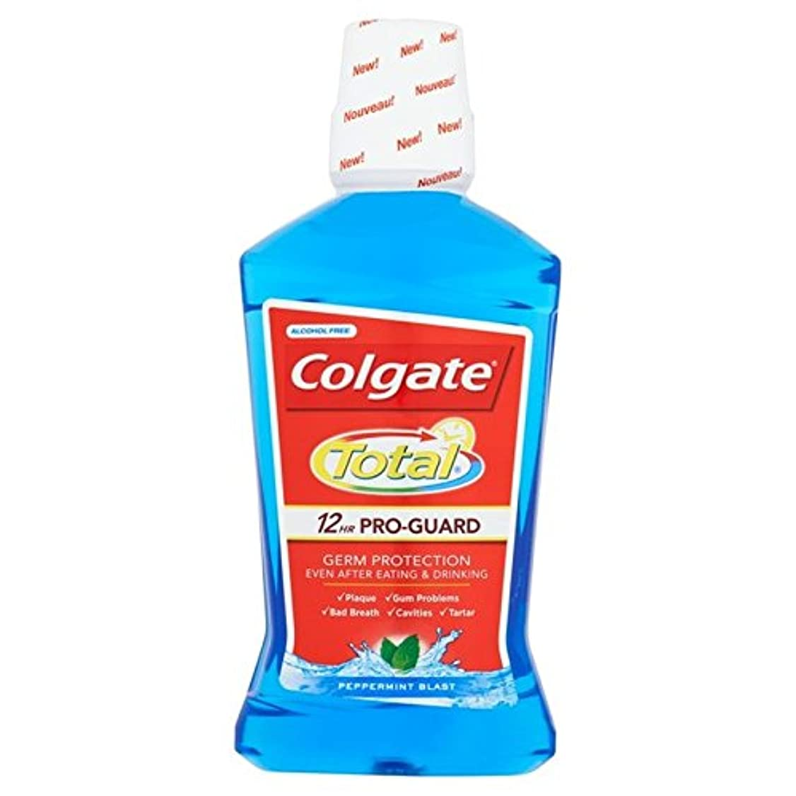 勘違いする人質すずめコルゲートトータル高度なブルーマウスウォッシュ500ミリリットル x4 - Colgate Total Advanced Blue Mouthwash 500ml (Pack of 4) [並行輸入品]