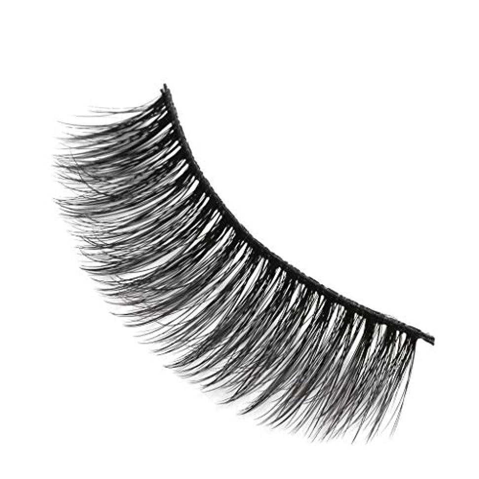 パワーセルメドレー太字柔らかい長い巻き毛と歪んだ多くの層まつげと3Dミンクの毛皮の10ペア