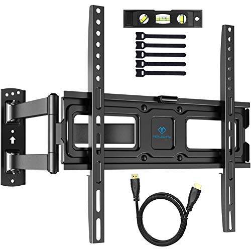 PERLESMITH テレビ壁掛け金具 32-55インチ対応 耐荷重50kg LCD LED 液晶テレビ用 上下左右前後可動 VESA400x400mm HDMIケーブル付き