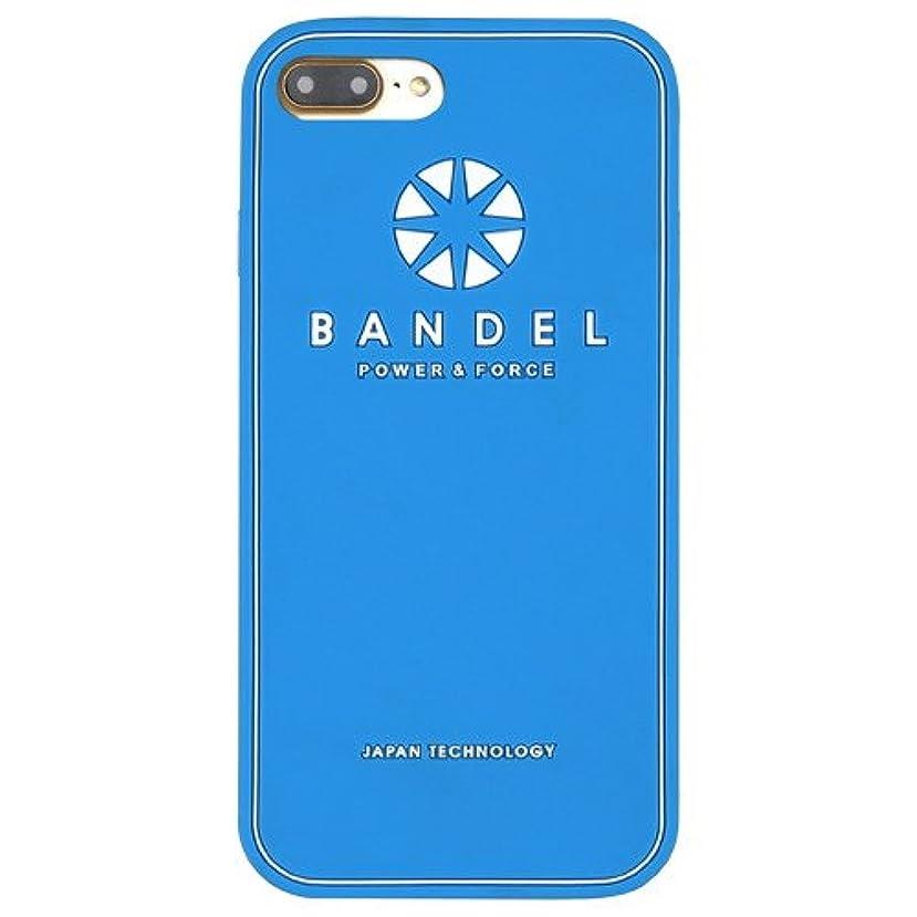 純度シマウマ具体的にバンデル(BANDEL) ロゴ iPhone 7 Plus専用 シリコンケース [ブルー]