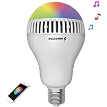 Kingstar Smart RGB Color Changing Music Ball Led Light E26/E27 Bulb Built-in Bluetooth Speaker Remote Controled Via App
