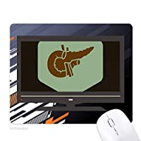 本体内部器官すい臓 ノンスリップラバーマウスパッドはコンピュータゲームのオフィス