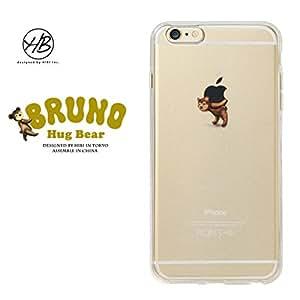 &y HB 【iPhone6s Plus / iPhone6 Plus 両対応】 5.5インチ ソフト TPU ケース キャラクター クマ 光沢タイプ BEAR HUG BRUNO(ブルーノ) B クリア HB004