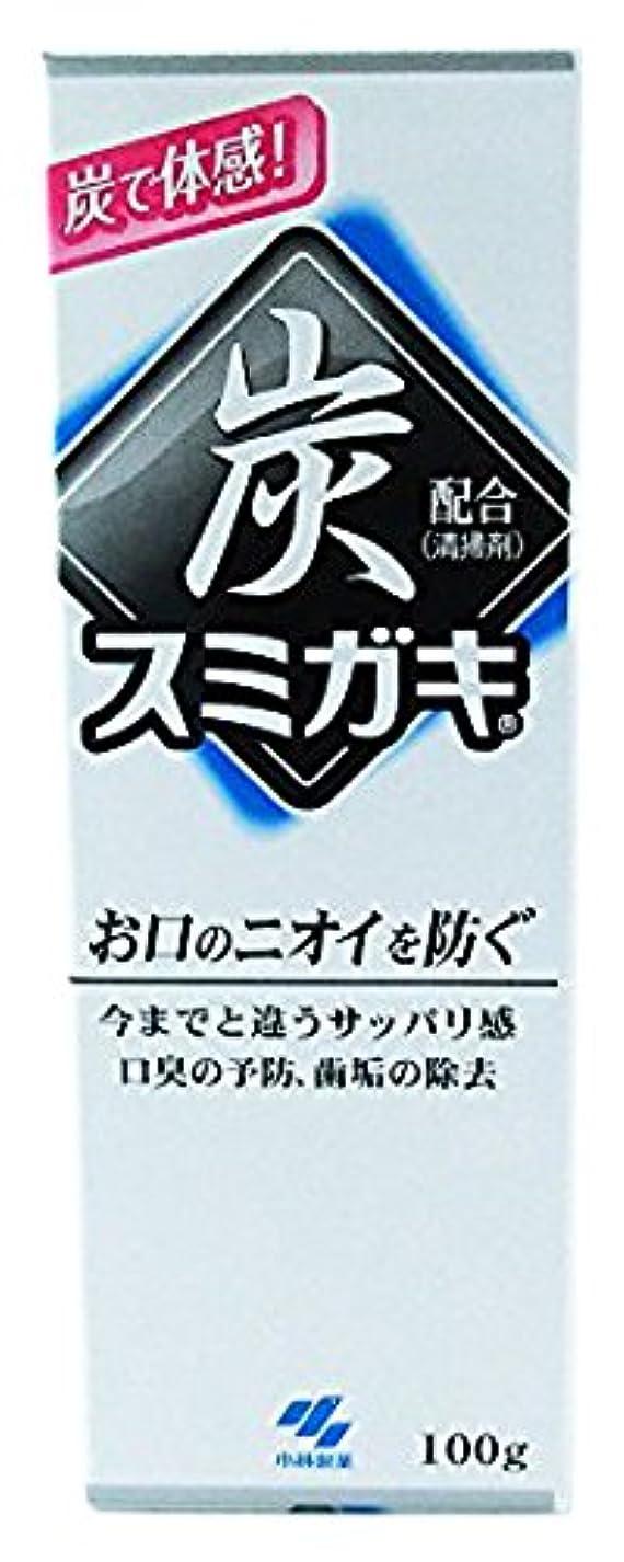 注意スカウトつづりスミガキ 炭配合(清掃剤) 口臭予防 歯みがき ハーブミントの香り 100g
