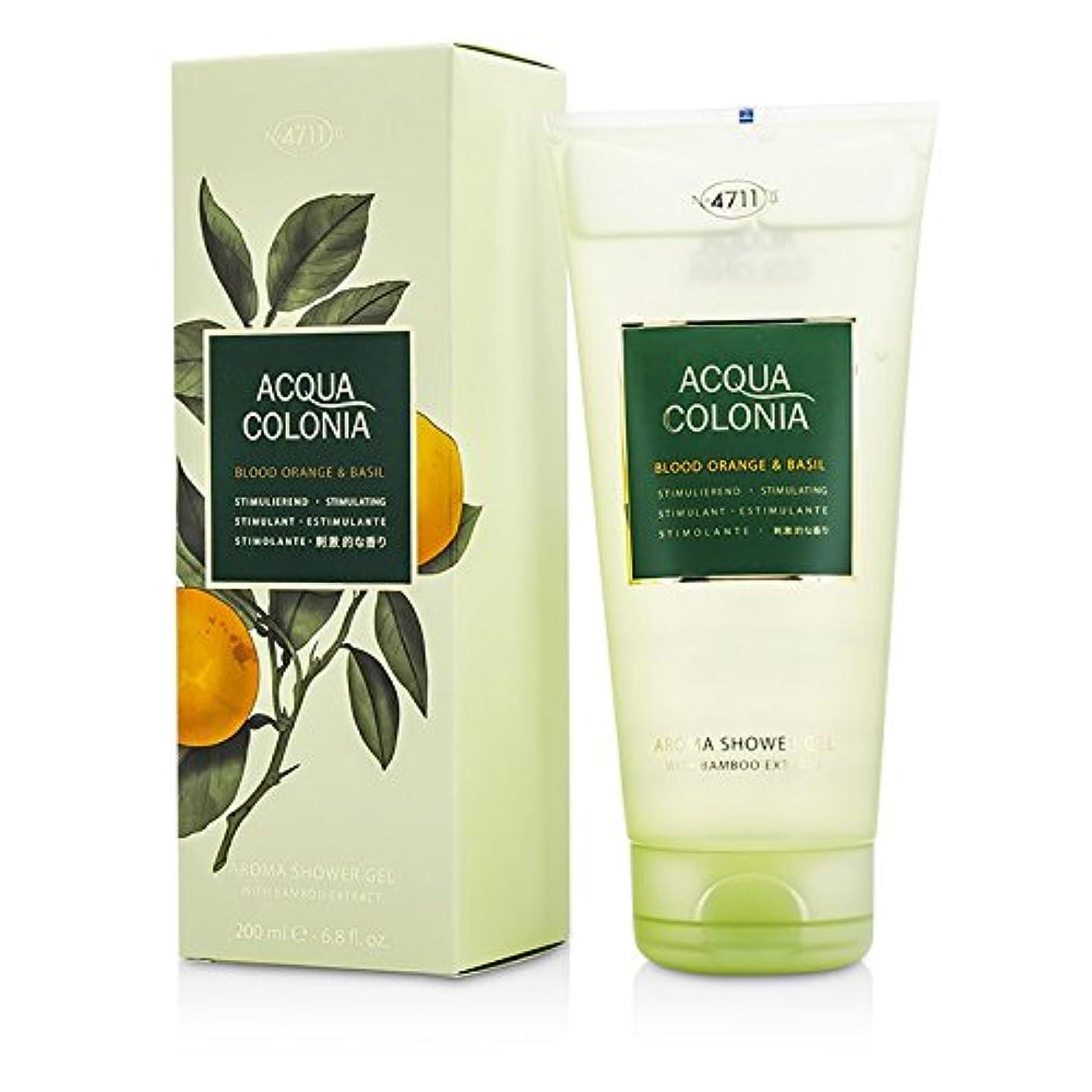 色合い摂動いいね4711 アクア コロニア ブラッドオレンジ&バジル アロマシャワージェル 200ml/6.8oz並行輸入品