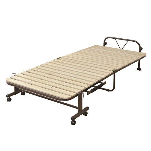 山善(YAMAZEN) 布団干し機能付きすのこ折りたたみベッド