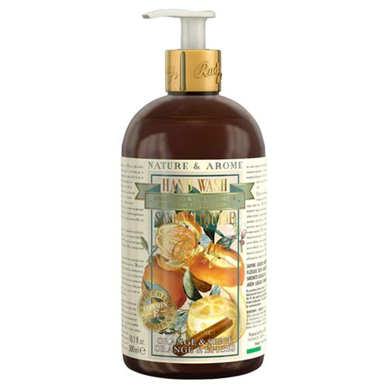 ジョージバーナード苦しめる建物RUDY Nature&Arome Apothecary ネイチャーアロマ アポセカリー Hand Wash ハンドウォッシュ(ボディソープ) Orange & Spice オレンジ&スパイス