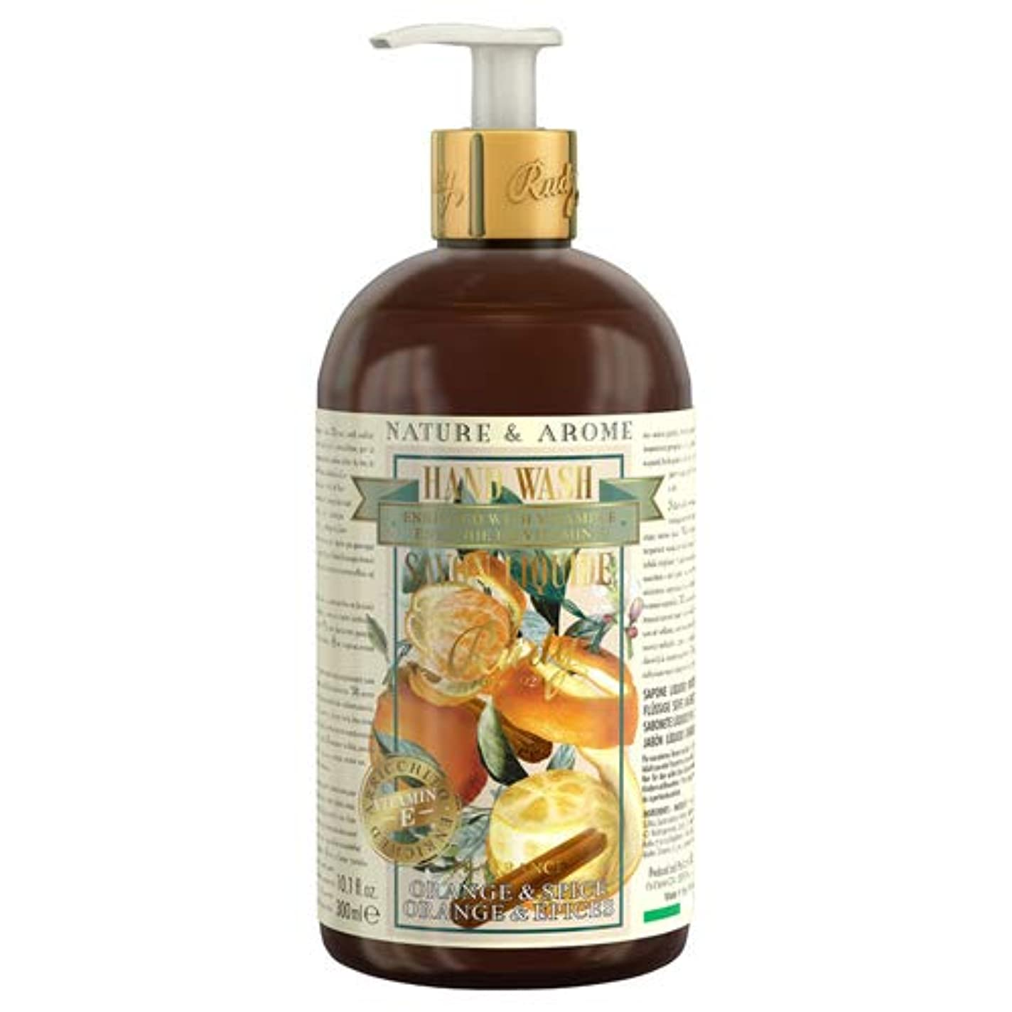 文法ジェム反対にRUDY Nature&Arome Apothecary ネイチャーアロマ アポセカリー Hand Wash ハンドウォッシュ(ボディソープ) Orange & Spice オレンジ&スパイス