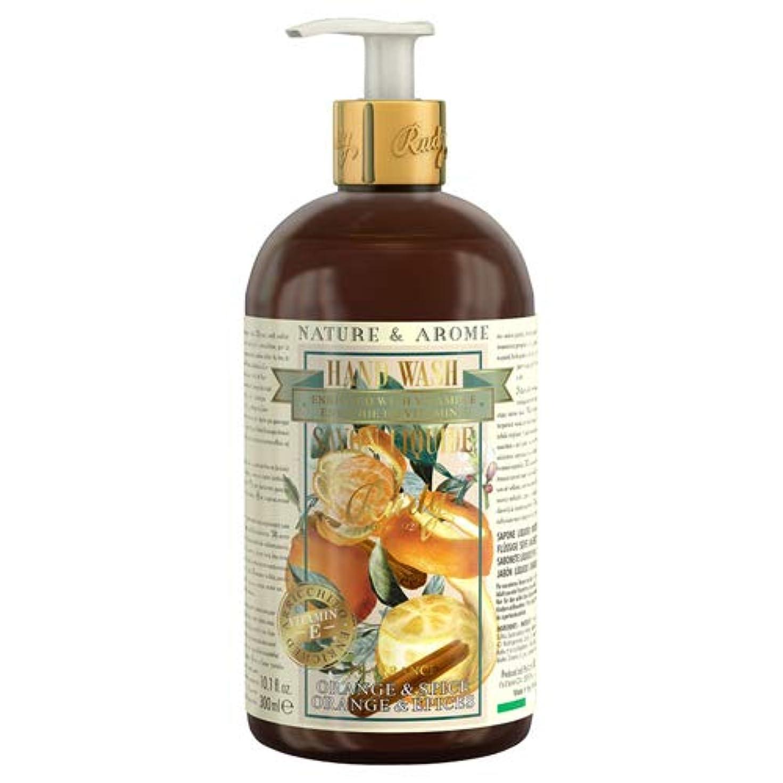 パンフレット驚いたことにつぶやきルディ(Rudy) RUDY Nature&Arome Apothecary ネイチャーアロマ アポセカリー Hand Wash ハンドウォッシュ(ボディソープ) Orange & Spice オレンジ&スパイス