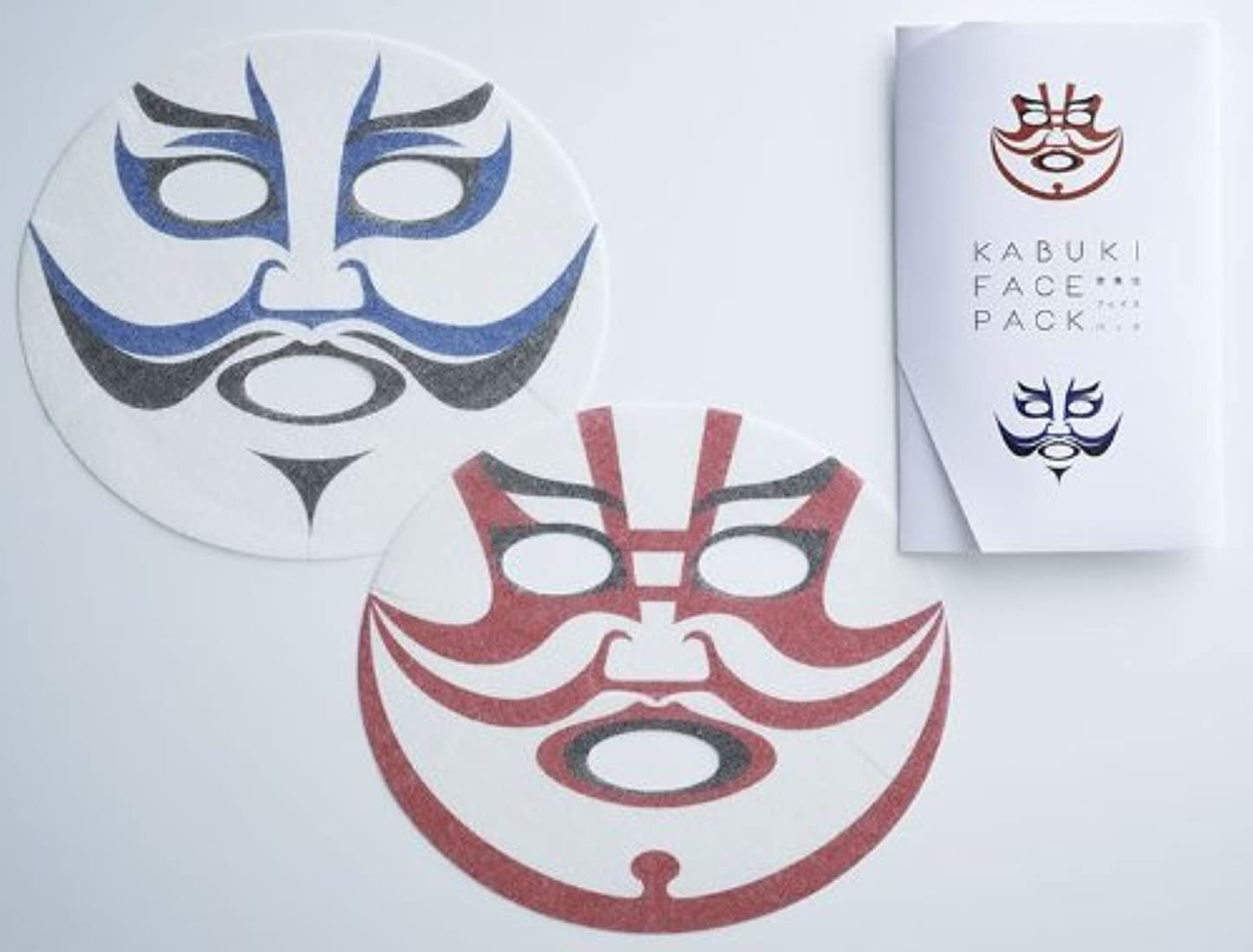 練習した輸送六月歌舞伎フェイスパック KABUKI FACE PACK
