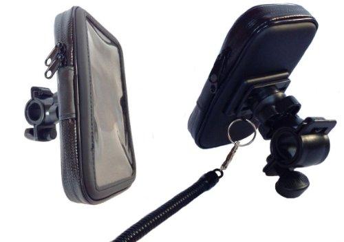 Eco Ride World 防水 マウントホルダー マウントキット 自転車 バイク GPS ナビ スマホ 5インチ タブレット 脱落防止ストラップ付き