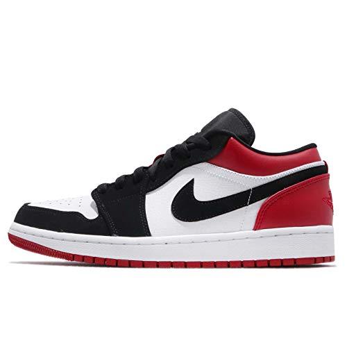 [ナイキ] エアジョーダン 1 ロー メンズ バスケットボール シューズ Air Jordan 1 Low Black Toe 553558-116, 28.5 cm [並行輸入品]