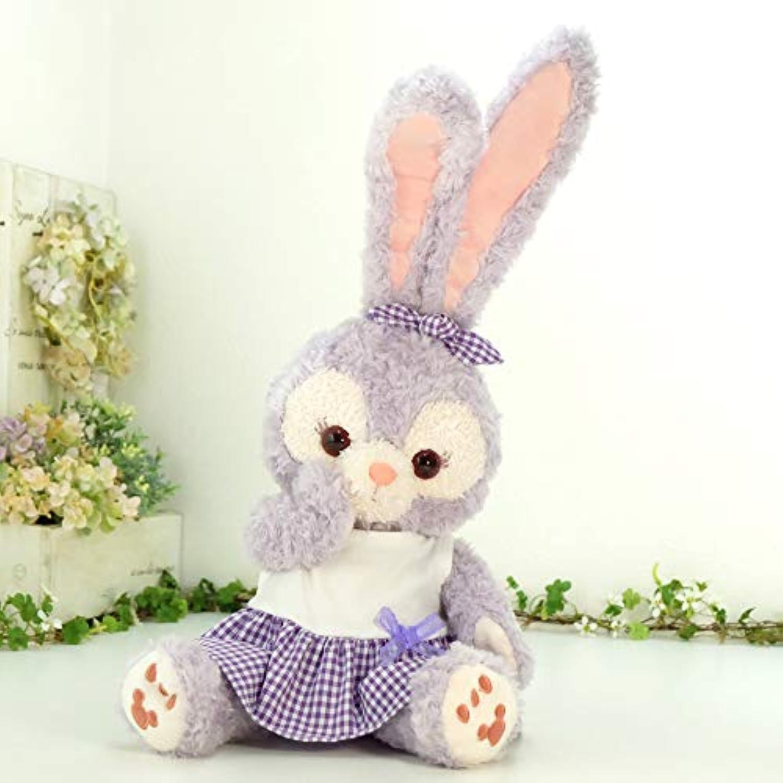 cushu cush ステラルー ぬいぐるみ 着せ替え 洋服 コスチューム 紫チェック ワンピース と リボン の2点セット cds277sl