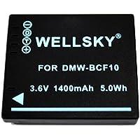 [WELLSKY] Panasonic パナソニック DMW-BCF10 互換バッテリー [ 純正充電器で充電可能 残量表示可能 純正品と同じよう使用可能 ] LUMIX ルミックス DMC-FT3 / DMC-FX700 / DMC-FX70 / DMC-FX66 / DMC-FS10 / DMC-FT2 / DMC-FT4