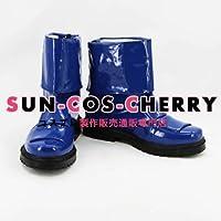 【サイズ選択可】コスプレ靴 ブーツ K-679 スーパー戦隊シリーズ 獣拳戦隊ゲキレンジャー ゲキブルー 女性23CM
