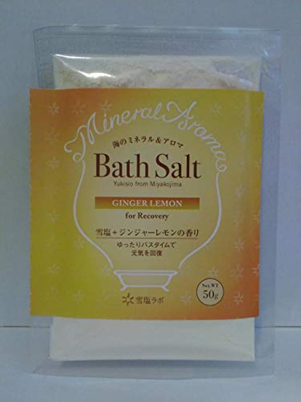毎月パーセント返済海のミネラル&アロマ Bath Salt 雪塩+ジンジャーレモンの香り