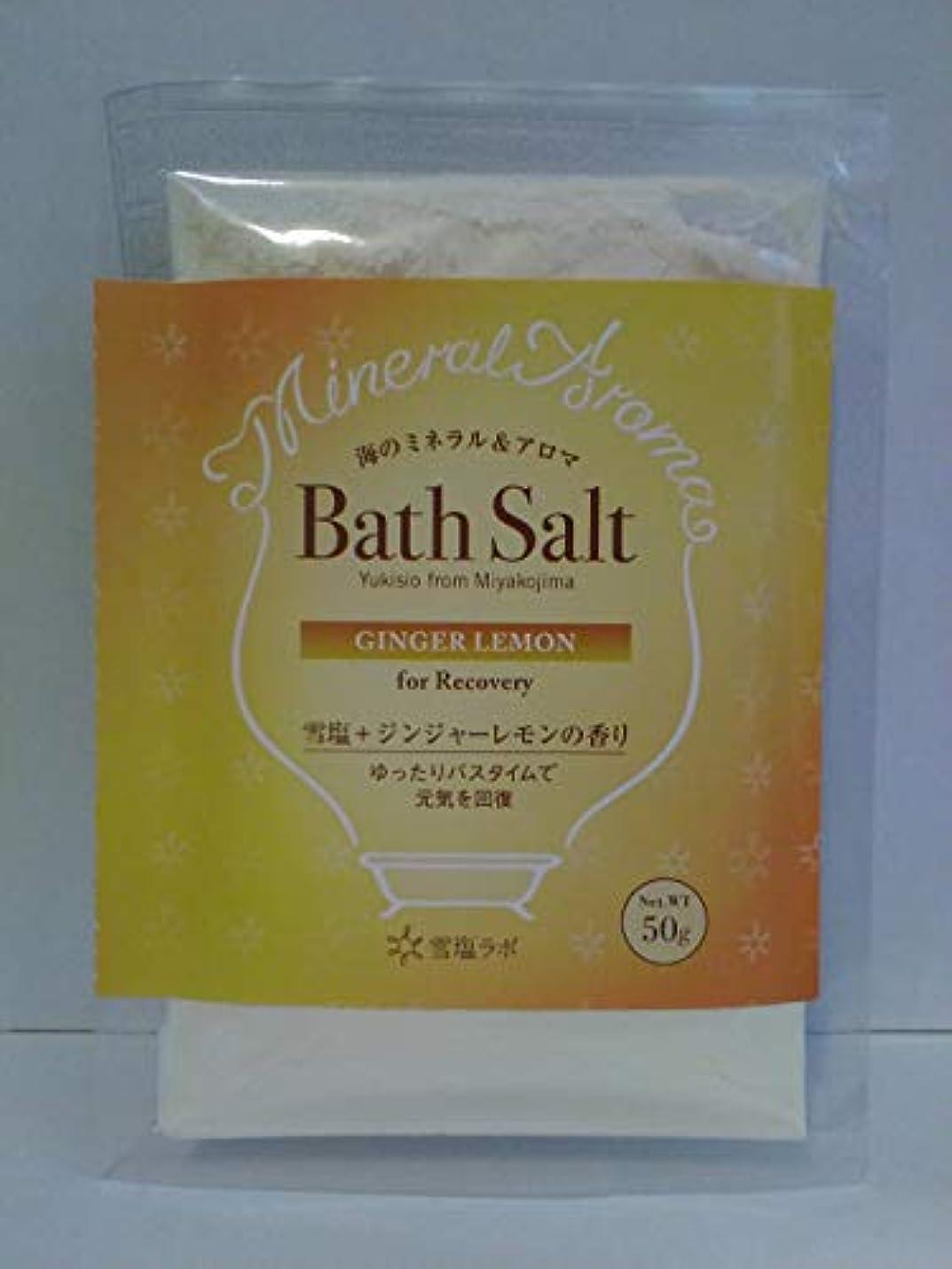 簡単に組開拓者海のミネラル&アロマ Bath Salt 雪塩+ジンジャーレモンの香り