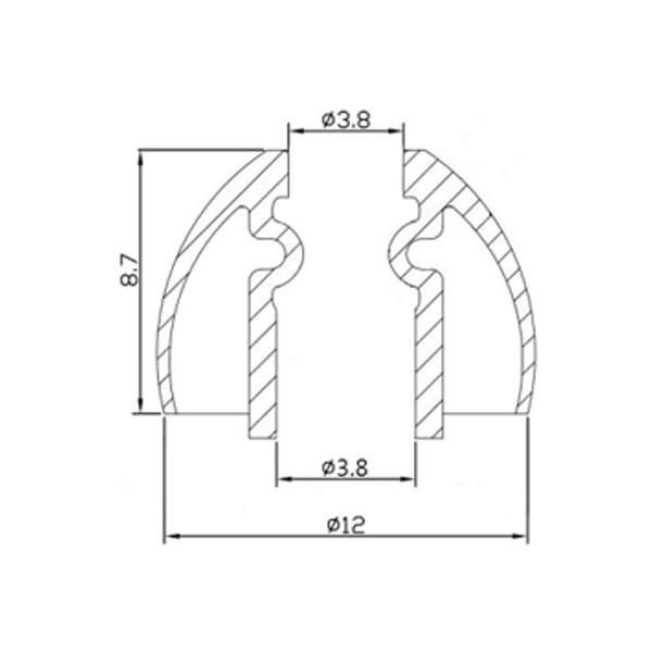 カナル型イヤホン用 シリコンイヤーチップ Sp...の紹介画像4